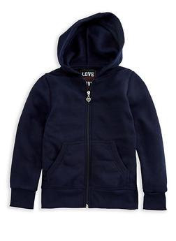 Girls 7-16 Zipper Front Hoodie - 3631063400071
