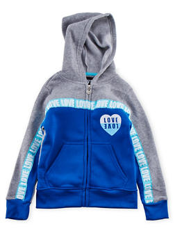 Girls 7-16 Love Graphic Hoodie - 3631063401415