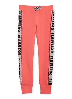 Girls 10-16 Marled Joggers with Flawless Love Graphics - 3631063401422