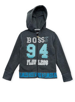 Girls 7-16 Hoodie with Boss 94 Flawless Graphic - 3631063401429