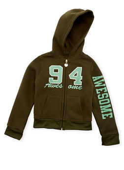Girls 7-16 Awesome 94 Graphic Hoodie - 3631063401441