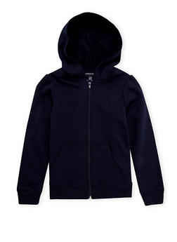 Girls 7-16 French Toast Zip-Front Hoodie - 3631068320007