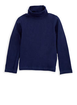 Girls 4-6x Basic Long Sleeve Turtleneck Top - 3632061950019