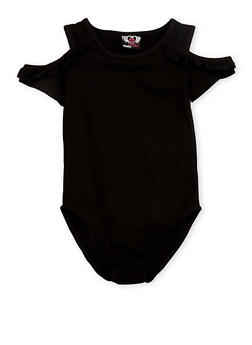 Girls 7-16 Cold Shoulder Bodysuit with Ruffle Details - 3633054730001