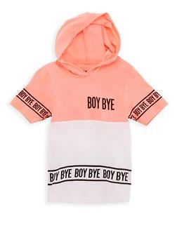 Girls 4-6X Boy Bye Graphic Hooded T Shirt - 3634033870013