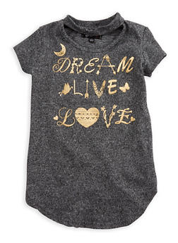 Girls 4-6x Dream Live Love Graphic Top - 3634038340001