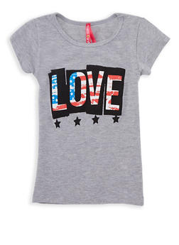 Girls 4-6x Americana Love Graphic T Shirt - 3634066590048