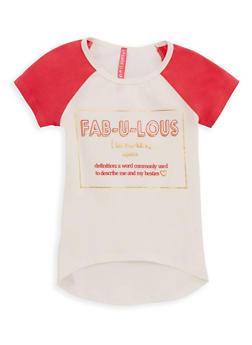 Girls 4-6x Fabulous Graphic Raglan T Shirt - 3634066590089