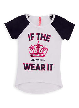 Girls 4-6x If The Crown Fits Wear It Graphic T Shirt - 3634066590092