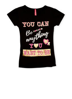 Girls 4-6x You Can Be Anything Graphic T Shirt - 3634066590098