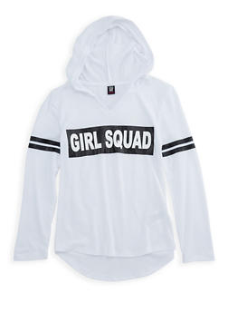 Girls 7-16 Hooded Long Sleeve Graphic Top - 3635023130001