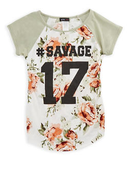 Girls 7-16 Hashtag Savage Graphic Top - 3635029890155
