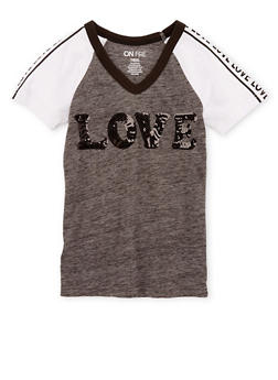 Girls 7-16 Love Graphic T Shirt - 3635033870104