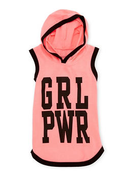 Girls 7-16 Grl Pwr Graphic Hooded Tank Top - 3635033870126