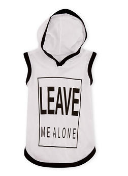 Girls 7-16 Leave Me Alone Graphic Hooded Tank Top - 3635033870127