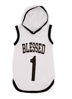 Girls 7-16 Blessed Graphic Hooded Tank Top - 3635033870128