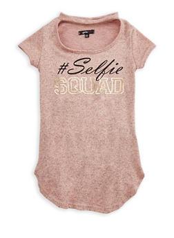Girls 7-16 Selfie Squad Keyhole Top - 3635038340003