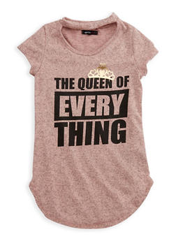 Girls 7-16 Short Sleeve Queen of Everything Graphic Top - 3635038340004