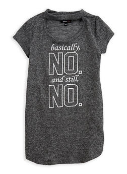 Girls 7-16 Basically No Graphic Keyhole Top - 3635038340007
