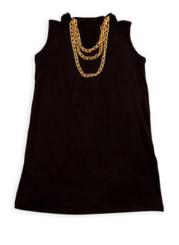 Girls 7-16 Sleeveless Top with Detachable Necklace - 3635038340016