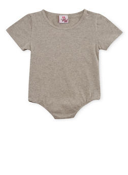 Girls 7-16 Short Sleeve Solid Bodysuit - 3635054730004