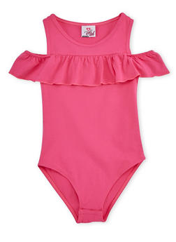 Girls 7-16 Ruffled Bodysuit - 3635054730005