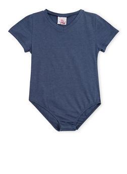 Girls 4-16 Basic Short Sleeve Bodysuit - 3635054730010