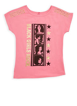 Girls 7-16 Black Girls Rock Graphic Top - 3635066590230