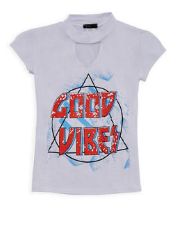 Girls 7-16 Good Vibes Graphic Top - 3635066590244