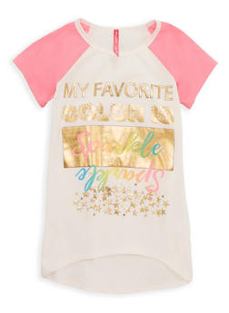 Girls 7-16 My Favorite Color Is Sparkle Graphic T Shirt - 3635066590247