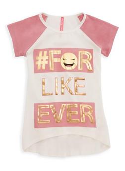 Girls 7-16 Like Forever Graphic Raglan T Shirt - 3635066590249