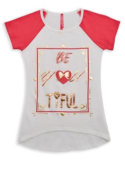 Girls 7-16 Be You Tiful Graphic Raglan T Shirt - 3635066590255