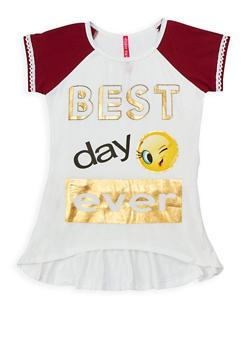 Girls 7-16 Foil Graphic T Shirt - 3635066590271