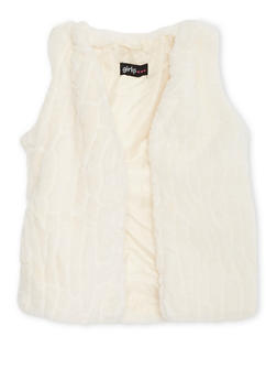 Girls 4-6x Faux Fur Vest with Pockets - 3636038340005