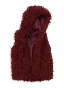 Girls 4-6x Hooded Faux Fur Vest - 3636038340017