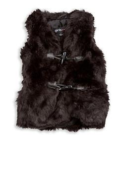 Girls 4-6x Faux Fur Toggle Vest - 3636038340019