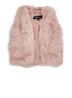 Girls 4-6x Faux Fur Vest - 3636038340020