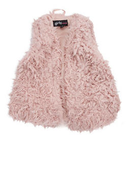 Girls 4-6x Faux Fur Vest - 3636038340021