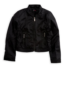 Girls 4-6x Faux Leather Jacket - 3636051060051