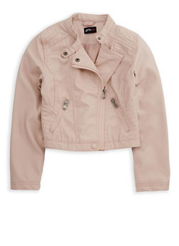 Girls 4-6x Faux Leather Jacket - 3636051060054