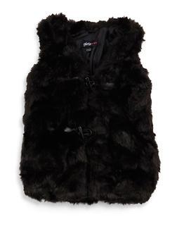 Girls 7-16 Faux Fur Toggle Vest - 3637038340026