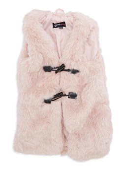 Girls 7-16 Faux Fur Toggle Vest - 3637038340026