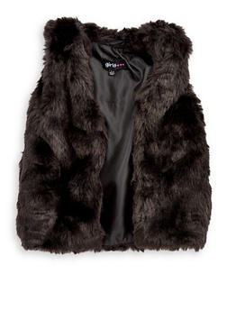 Girls 7-16 Faux Fur Vest - 3637038340027