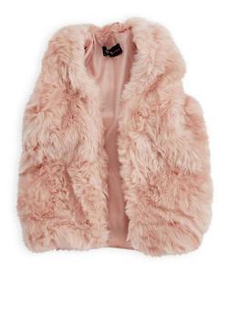 Girls 7-16 Faux Fur Vest - 3637038340027