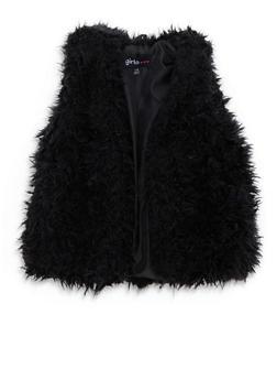 Girls 7-16 Open Front Faux Fur Vest - 3637038340028