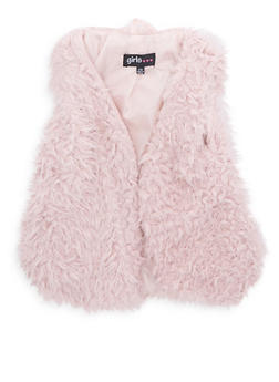 Girls 7-16 Open Front Faux Fur Vest - 3637038340028