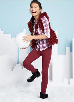Girls 7-16 Hooded Faux Fur Vest - 3637038340029