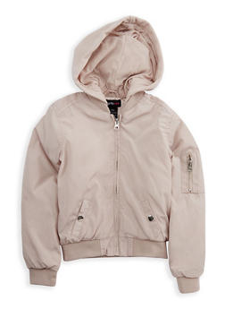 Girls 7-16 Hooded Bomber Jacket - 3637051060077