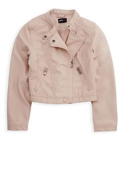 Girls 7-16 Faux Leather Jacket - 3637051060089