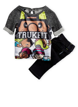 Baby Girls Trukfit Graphic Knit Top and Skinny Jeans Set - 3640073452012